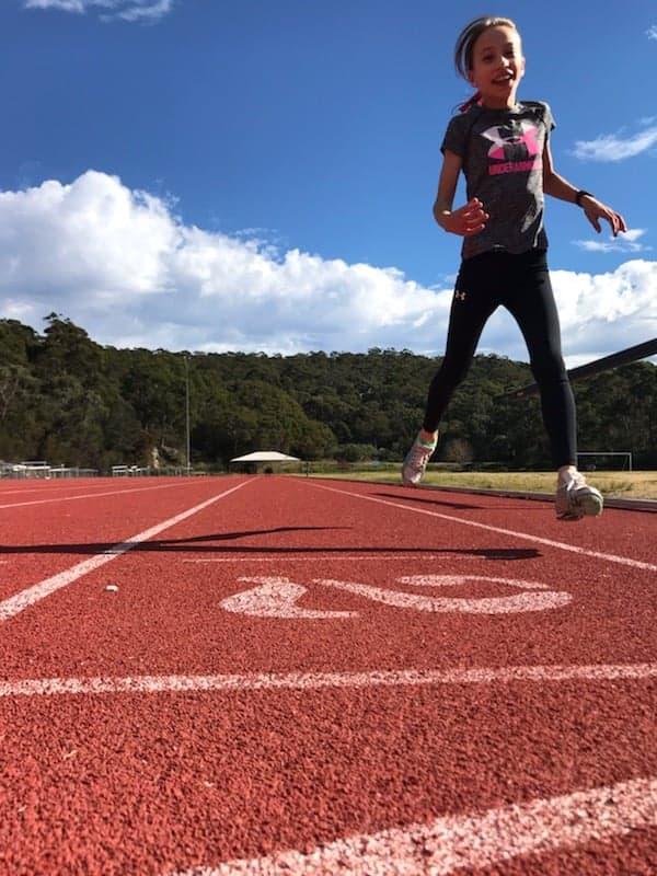 teen running